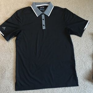 Black adidas golf polo